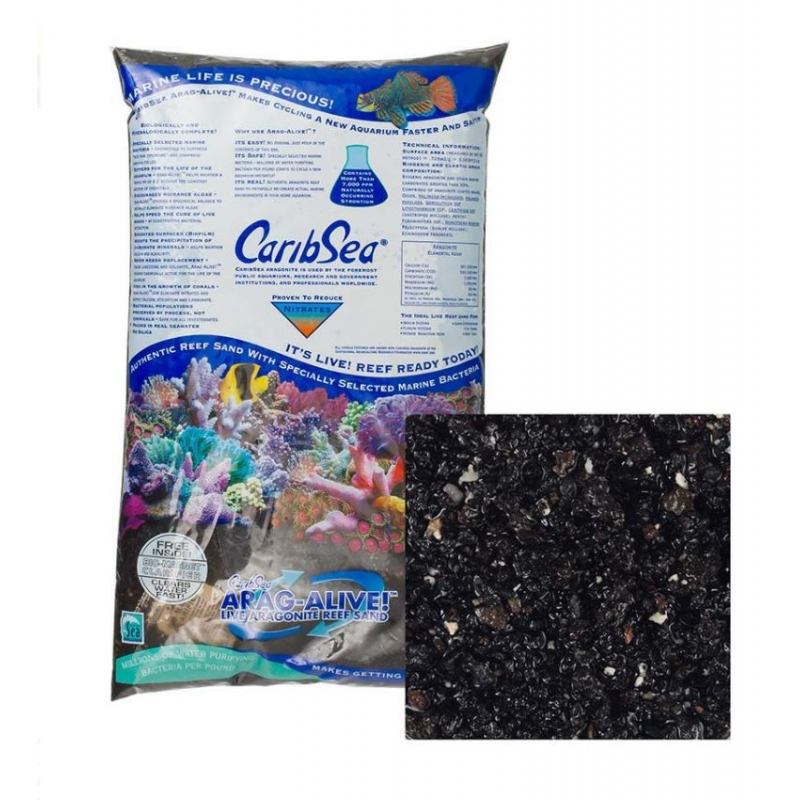 CARIB SEA ARAGONITA HAWAIAN BLACK 10 LB ( 4.5 KG )